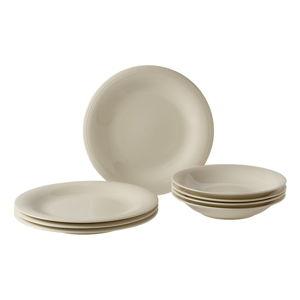 8-częściowy beżowy zestaw talerzy z porcelany Like by Villeroy & Boch Group