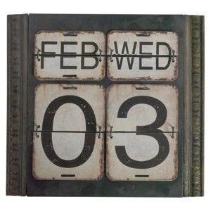 Zielony kalendarz ścienny Geese Time