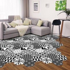 Zestaw 10 naklejek na podłogę Ambiance Floor Stickers Hexagons Nemesio, 40x90 cm