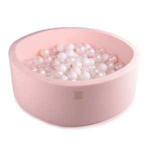 Różowy basen dla dzieci z 200 piłkami MeowBaby Pearls, ø 90x30 cm
