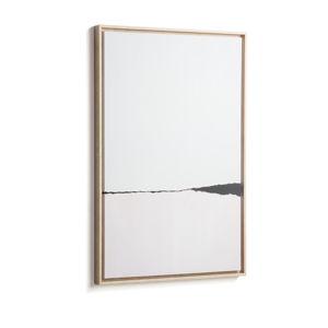 Biały obraz w ramie La Forma Abstract, 60x90 cm