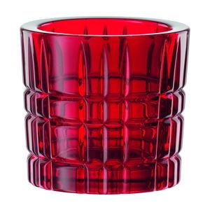 Czerwony świecznik ze szkła kryształowego Nachtmann Square Votive Red