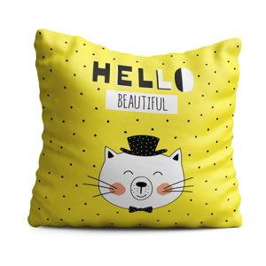 Poduszka dziecięca OYO Kids Hello Beautiful, 40x40 cm