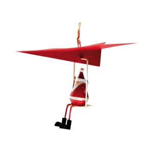 Wisząca ozdoba świąteczna G-Bork Santa in Airplane