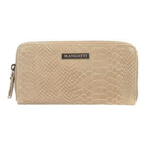 Beżowy portfel skórzany Mangotti Bags Zuna