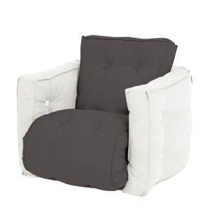 Ciemnoszary dziecięcy fotel rozkładany Karup Mini Dice