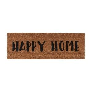 Wycieraczka z czarnym napisem PT LIVING Happy Home, 26x75cm