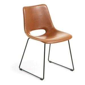 Brązowe krzesło do jadalni La Forma Zahara