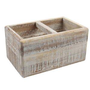 Dzielony pojemnik na przybory kuchenne z drewna akacjowego T&G Woodware Trug