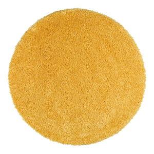 Żółty dywan Universal Aqua Liso, ø 80 cm