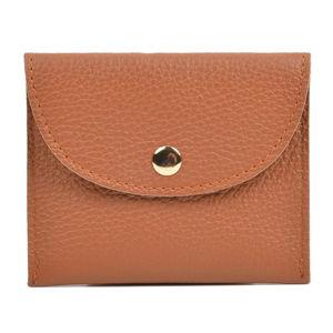 Karmelowobrązowy portfel skórzany Sofia Cardoni