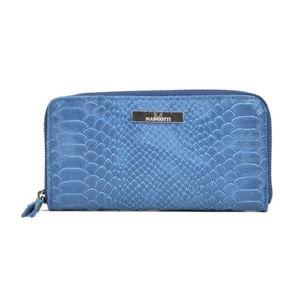 Niebieski portfel skórzany Mangotti Bags Zuna