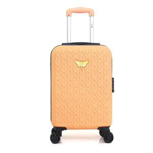 Pomarańczowa walizka fakturowana z 4 kółkami LPB Alicia, 31 l