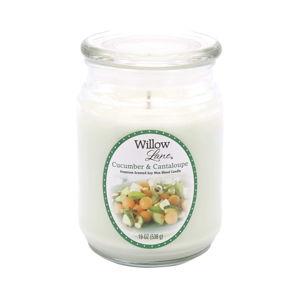 Świeczka w szkle z woskiem sojowym o zapachu ogórka i melona Candle-Lite, 115 h