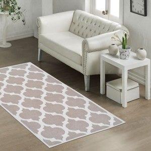 Wytrzymały dywan Vitaus Madalyon Bej, 60x90 cm