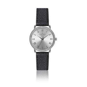 Damski zegarek z czarnym paskiem ze skóry naturalnej Frederic Graff Lychee