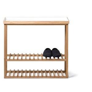 Regał na buty z białą półką Hello Storage