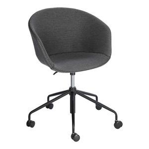 Szare krzesło biurowe La Forma Zadine