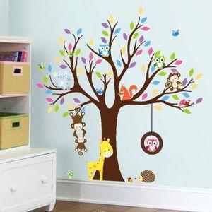 Zestaw dziecięcych naklejek ściennych Ambiance Tree with Animals