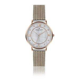 Damski zegarek z bransoletką ze stali nierdzewnej w kolorze srebra i różowego złota Frederic Graff Liskamm