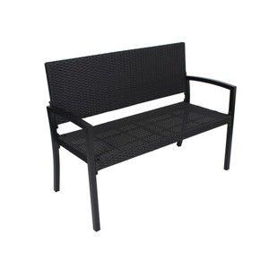 Czarna ławka ogrodowa ADDU Sanremo