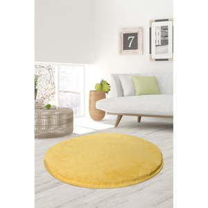 Żółty dywan Milano, ⌀ 90 cm