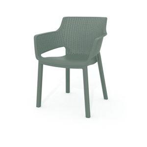 Brązowe krzesło ogrodowe Keter Eva